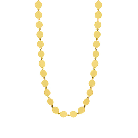IN STOCK - Retro Gold Discs Necklace