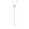 Two Heart Lariat Necklace