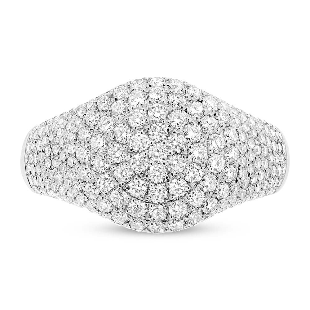 Domed Pave Pinky Ring