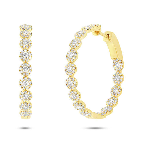 Eden Diamond Hoops