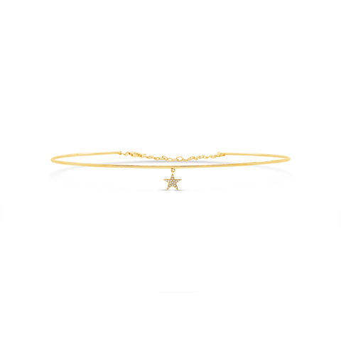 Pave Star Wire Choker