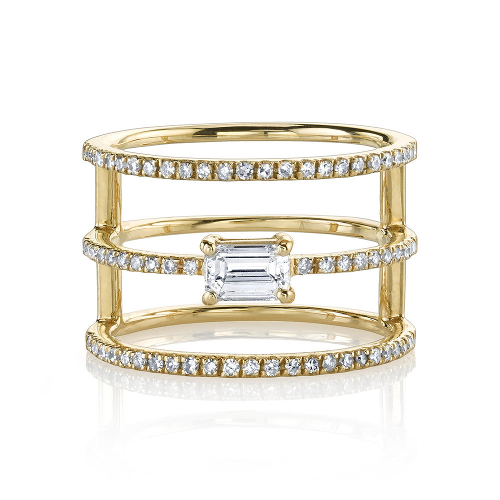 Stacked Baguette Ring