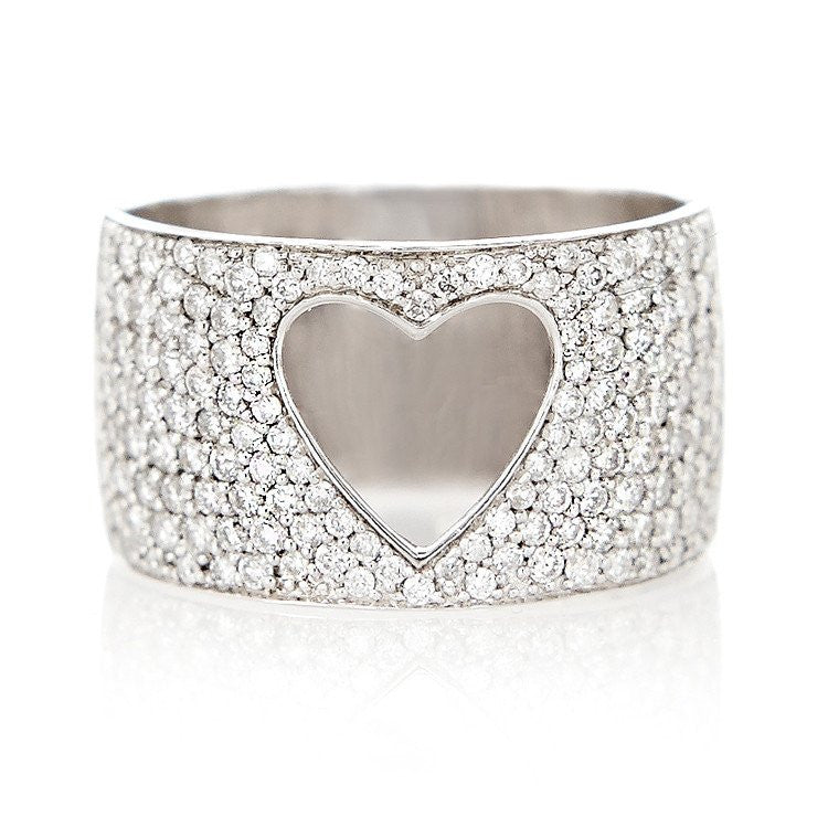 Pave Love is Love Ring