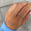 Half Diamond Half Rainbow Eternity Band
