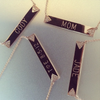 Double Triangle Nameplate Necklace