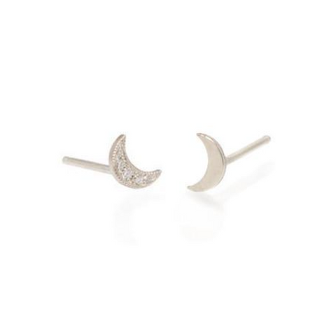 Itty Bitty Moon Studs