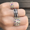 Multicolored Coil Ring