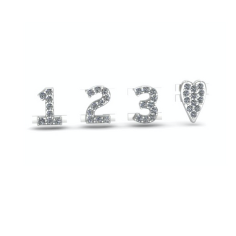 Personalized Slider Vertical Necklace Charms