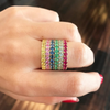 Large Rainbow Stack Bands