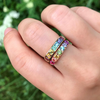 Square Cirque Rainbow Ring