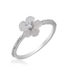 Flower and Diamond Ring