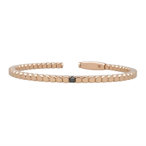 Gold Dado Bracelet with Single Diamond