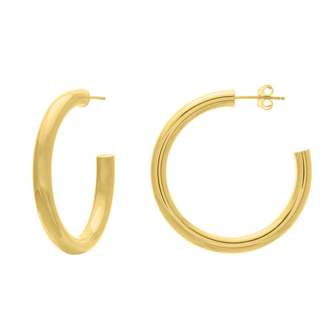 35mm Tube Hoop Earrings