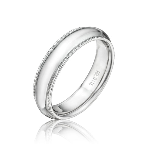 5mm Milgrain Comfortable Fit Wedding Band