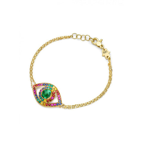 Ombre Rainbow Eye Bracelet