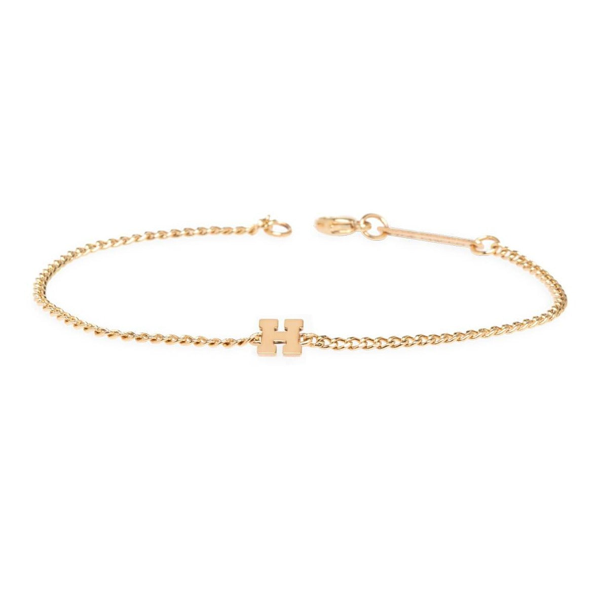 Curb Chain Bracelet with Single Initial