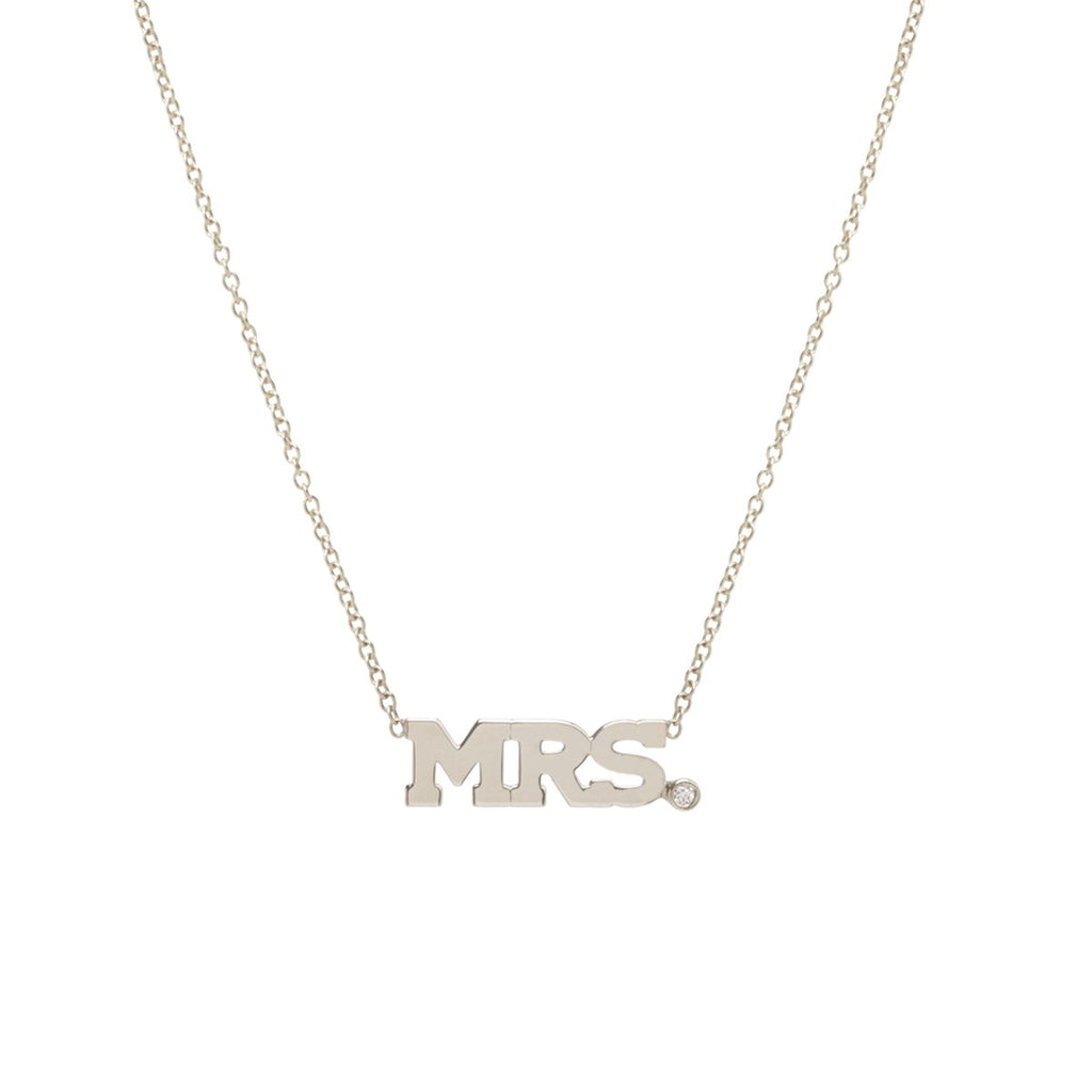 Gold 3 Letter Necklace with Single Diamond