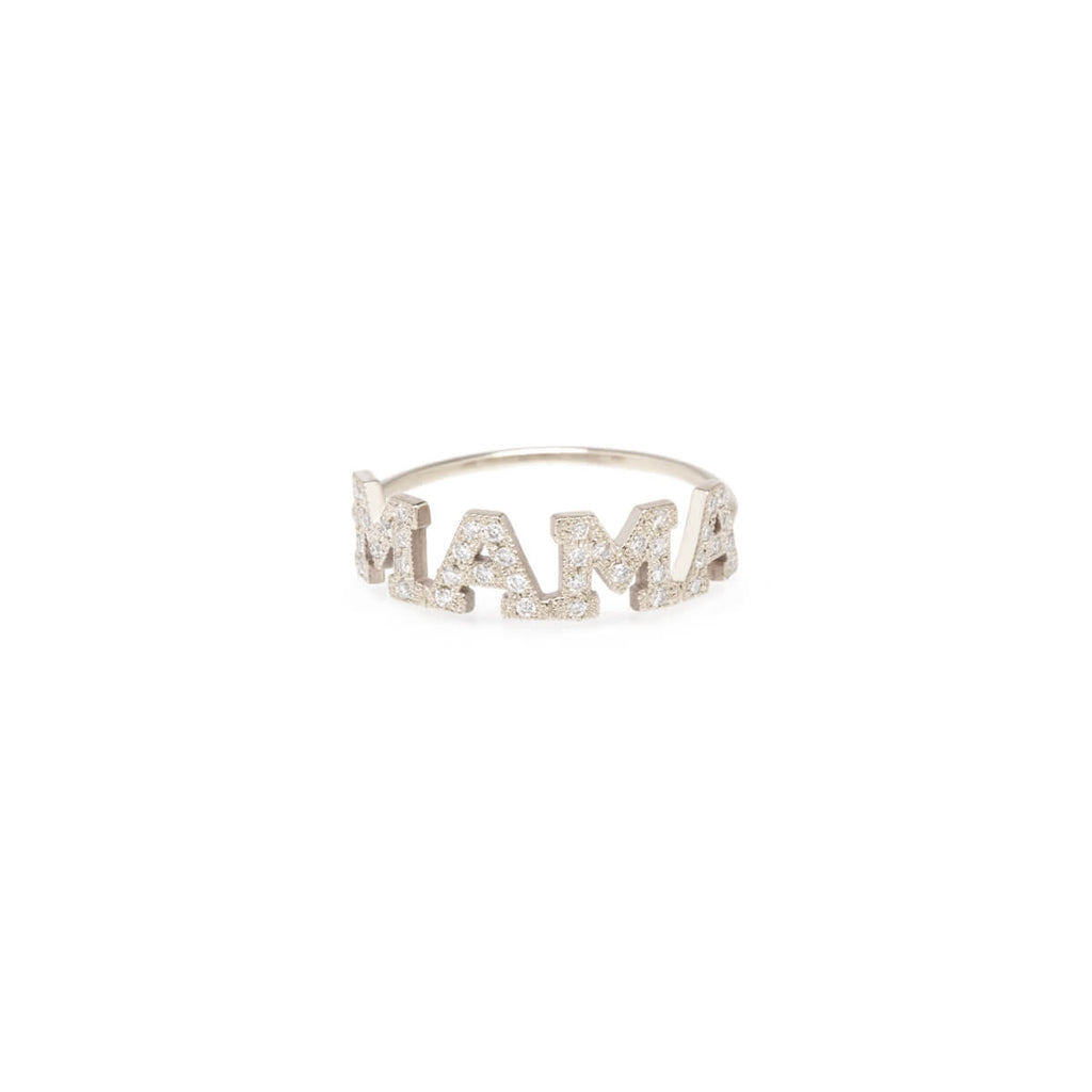 Pave Diamond 4 Letter Ring