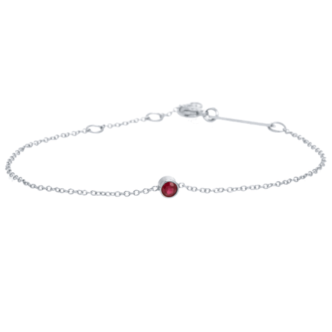 Single Bezel Gemstone Bracelet