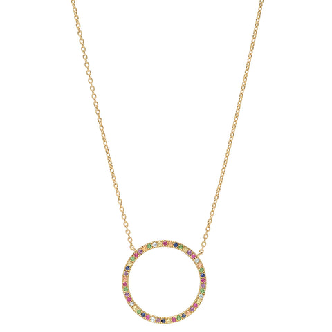 Multicolored Circle Necklace