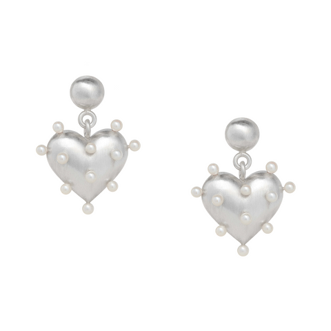 Pin Cushion Heart Earrings