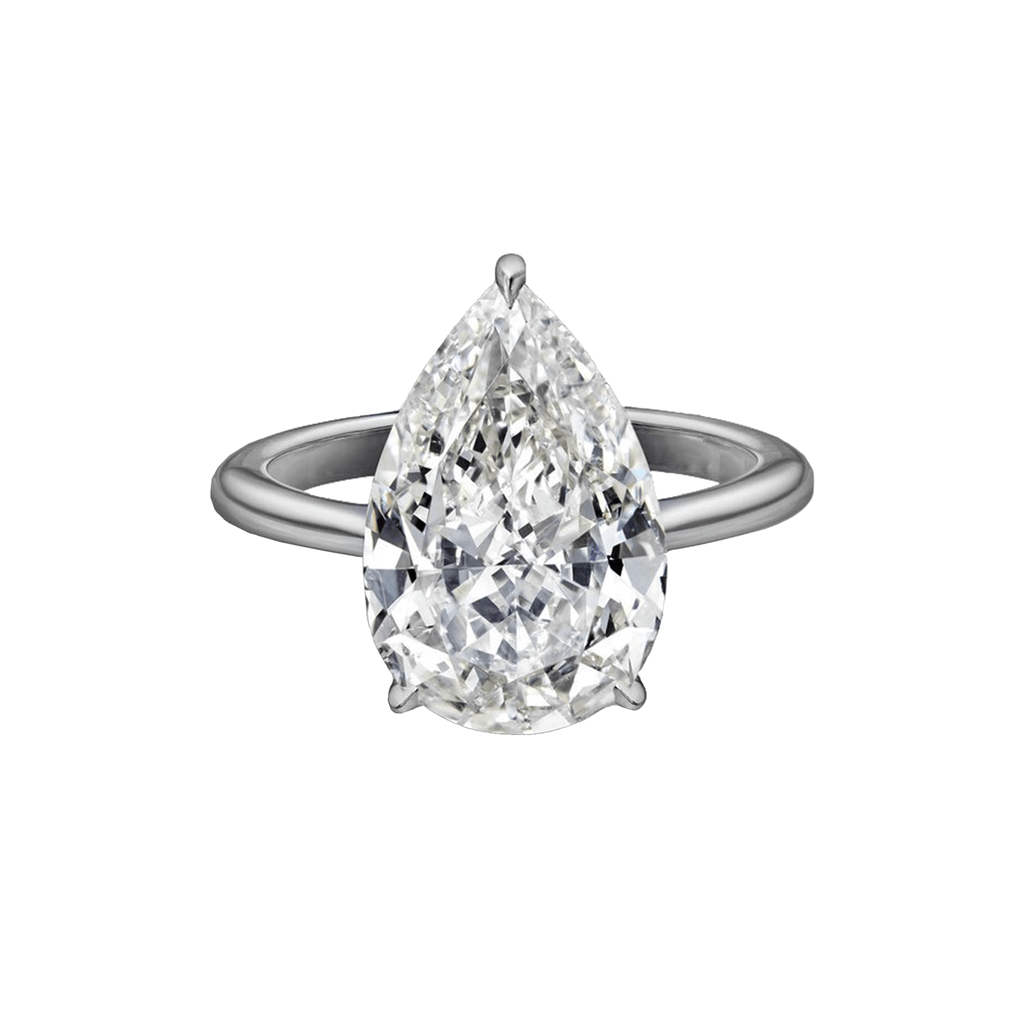 5.27 Carat Pear Shape Engagement Ring