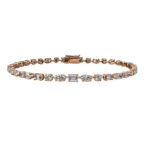 Mini Multi Shaped Diamond Bracelet
