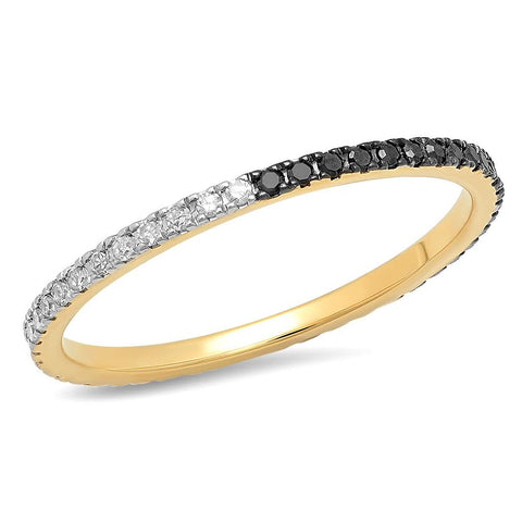 Black and White Diamond Eternity Band