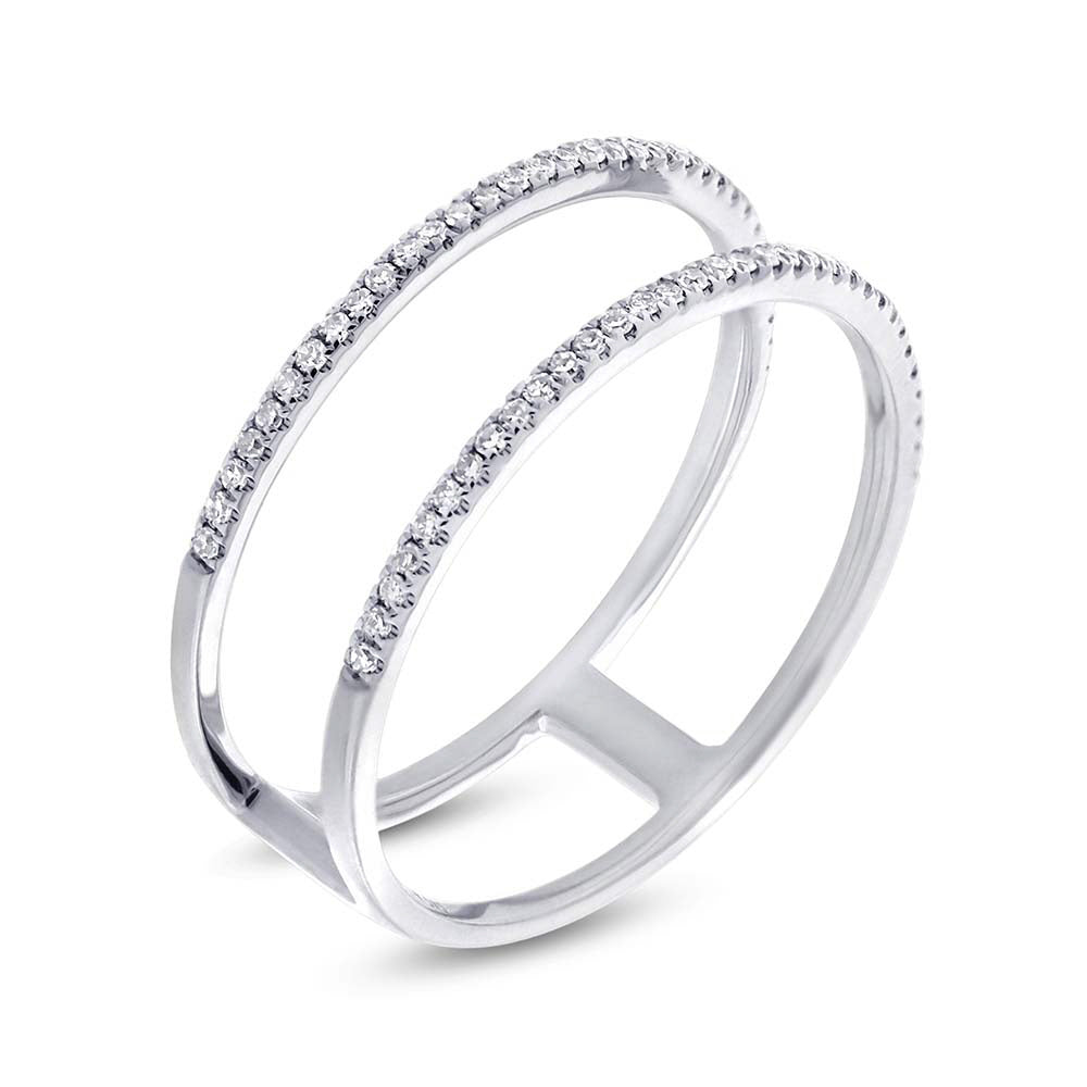 Double Diamond Bar Ring