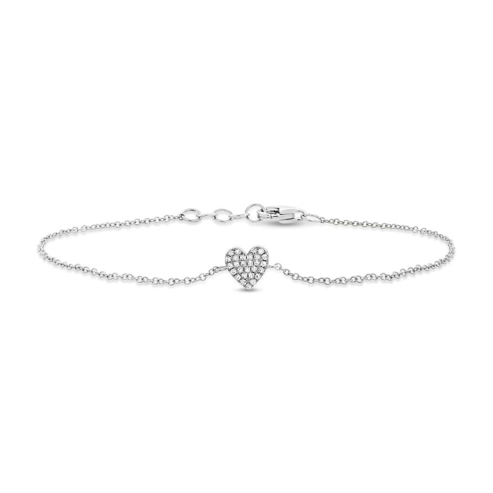 Mini Pave Heart Bracelet