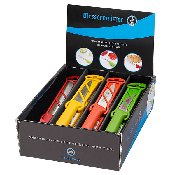 Messermeister - Petite Messer Multi-Color Paring Knife Counter Display - 24