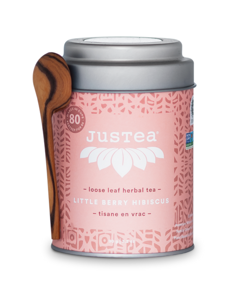 JusTea - Little Berry Hibiscus Tin with Spoon