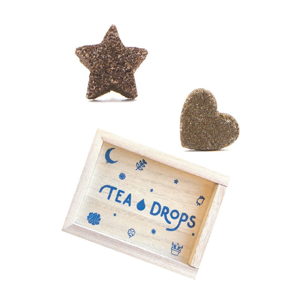 Tea Drops - Tea - Mini Wood Box Chai (Cardamom) Spice & Sweet Peppermint