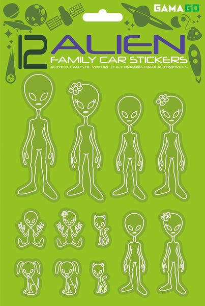 GAMAGO - Alien Car Stickers