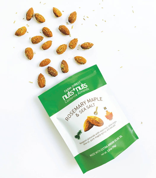 Nuts+Nuts - Rosemary Maple Sea Salt Almonds 2.5oz