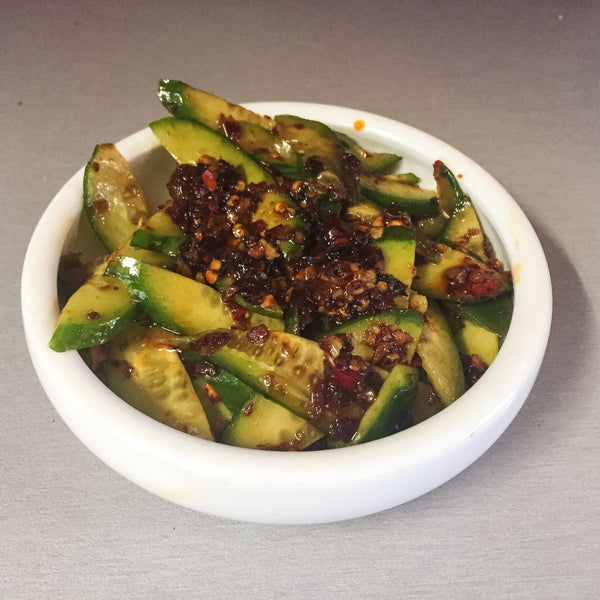 Hot and Spicy Pickled Cucumbers