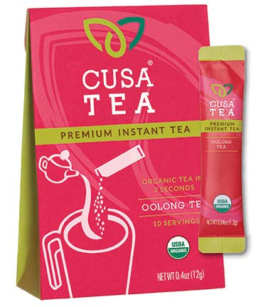 Cusa Tea and Coffee - Organic Oolong Instant Tea Box