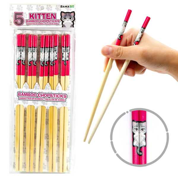 GAMAGO - Kitten Bamboo Chopsticks