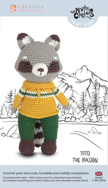 Creative World of Crafts - Toto the Racoon Crochet Kit