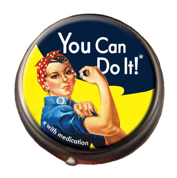 Unemployed Philosophers Guild - Rosie the Riveter Pill Box