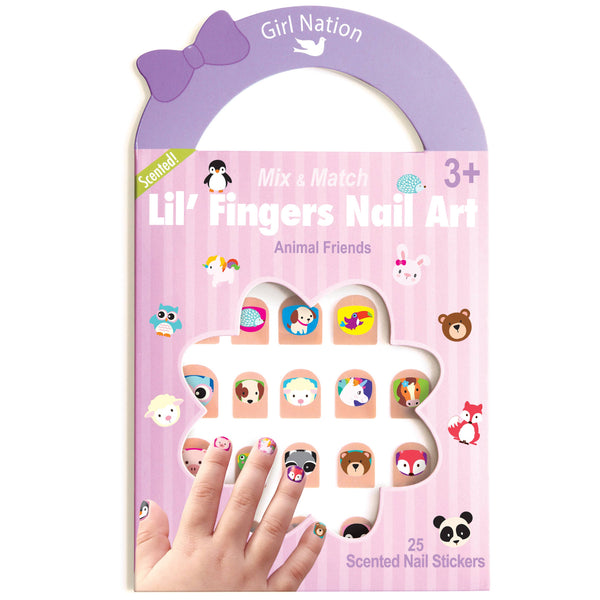 Girl Nation - Lil' Fingers Nail Art- Animal Friends