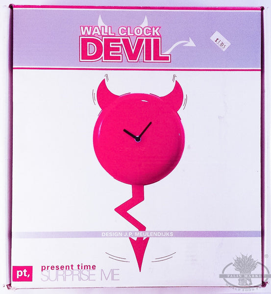 Present Time Wall Clock Devil