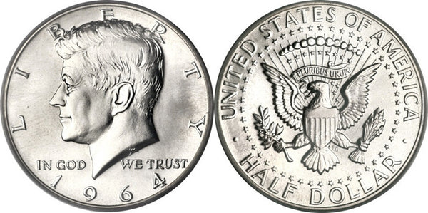 United States Of America Half Dollar 1964 Jfk Tails