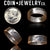 JFK Half Dollar 1965-1970 Silver Coin Ring  - Sizes 7 - 14.5