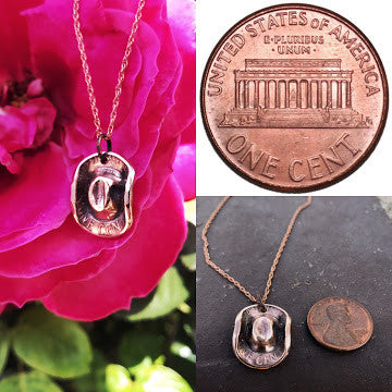 Cowboy Penny Hat - Handmade - Super Adorable On Rose Gold 18' Necklace - Limited Quantity Made