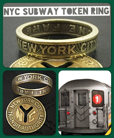 New York City Subway Token Ring Vintage - Sizes 4.5 to 11