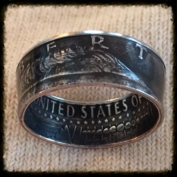 1971 2017 Jfk Half Dollar Coin Ring Hand Made Usa