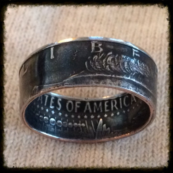 1971 2018 Jfk Half Dollar Coin Ring Hand Made Usa