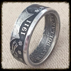 1898-1915 Barber Half Dollar - Makes a Beautiful Ring - Sizes Available 8 - 14.5 , Dollar Coin - Coin Jewelry Co, Coin Jewelry Co - Coin Rings - Quarters - Half Dollars - Silver Dollars   - 1