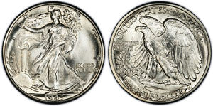 1935 1947 Walking Liberty Half Dollar Coin Ring Sizes 8
